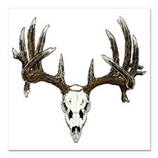 "Skull hunter whitetail   Square Car Magnet 3"" x 3"""