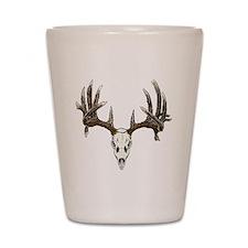 Skull hunter whitetail  buck Shot Glass