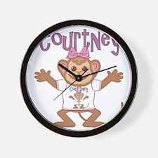 courtney-g-monkey Wall Clock