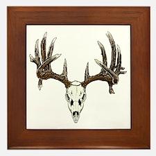 Skull hunter whitetail  buck Framed Tile