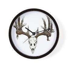 Skull hunter whitetail  buck Wall Clock