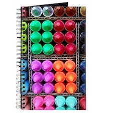 Flip flops Coloured crayons Journal