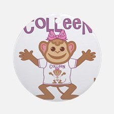 colleen-g-monkey Round Ornament