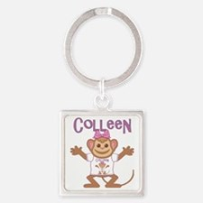 colleen-g-monkey Square Keychain
