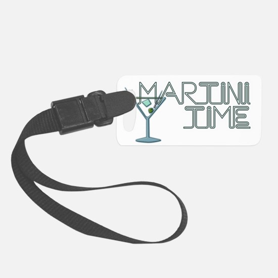 Martini Time BLK Luggage Tag