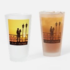 Caribbean, Aruba, Romantic couple s Drinking Glass