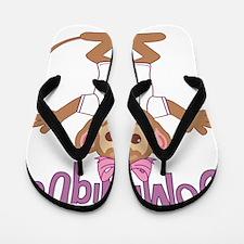 dominique-g-monkey Flip Flops
