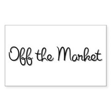 Off the Market Rectangle Decal