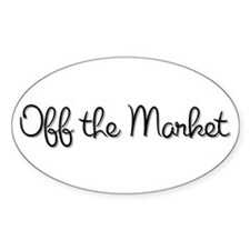Off the Market Oval Decal