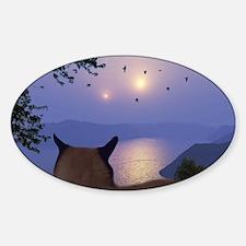 PeeringThroughTheMist2066H Sticker (Oval)