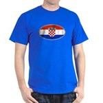 Croatian Oval Flag Dark T-Shirt