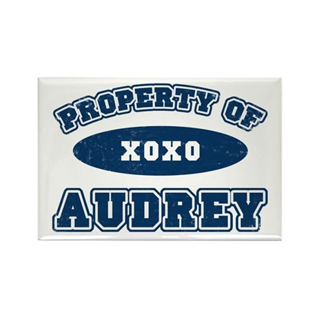 """Property of Audrey"" Rectangle Magnet"