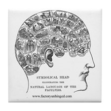 Symbolical Head Tile Coaster