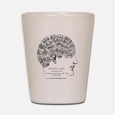 Symbolical Head Shot Glass