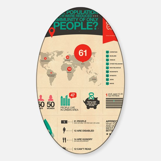 The Miniature Earth poster Sticker (Oval)