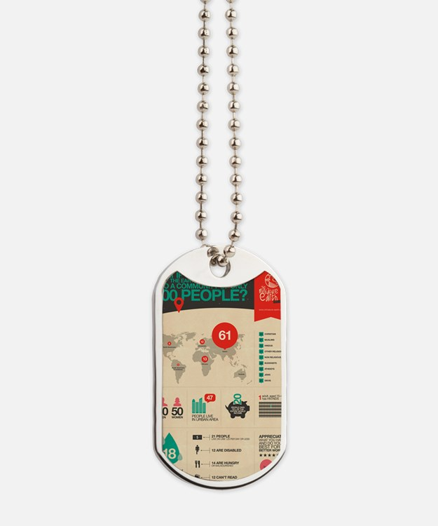 The Miniature Earth poster Dog Tags