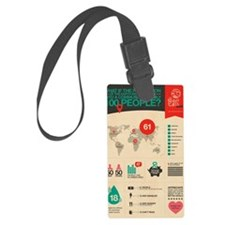 The Miniature Earth poster Luggage Tag