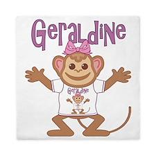 geraldine-g-monkey Queen Duvet