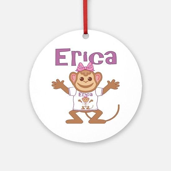 erica-g-monkey Round Ornament