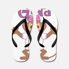 gina-g-monkey Flip Flops