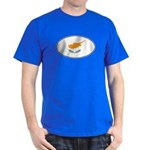 Cyprus Oval Flag Dark T-Shirt