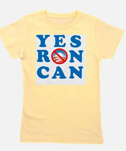 Yes RON Can square 2 Girl's Tee