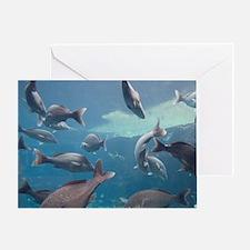 Aquarium inside Atlantis Resort, Nas Greeting Card