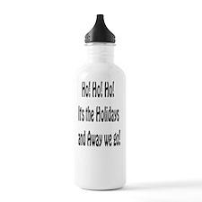 ho ho ho card Water Bottle
