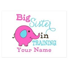 Big Sister in Training - Personalized 5x7 Flat Car