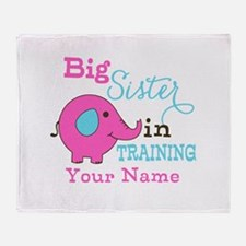 Big Sister in Training - Personalized Throw Blanke