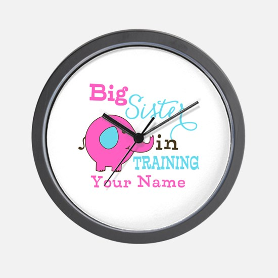 Big Sister in Training - Personalized Wall Clock