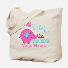 Big Sister in Training - Personalized Tote Bag