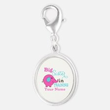 Big Sister in Training - Personalized Silver Oval