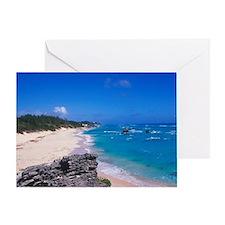 Caribbean, Bermuda. Warwick Long Bea Greeting Card