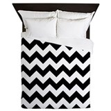 Black white zig zag Queen Duvet Covers