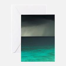 Storm over Ocean, Western Bonaire, N Greeting Card