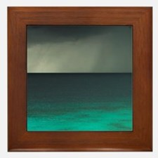 Storm over Ocean, Western Bonaire, Net Framed Tile
