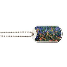 BLUEBONNETS AND PAINTBRUSH 1 Dog Tags