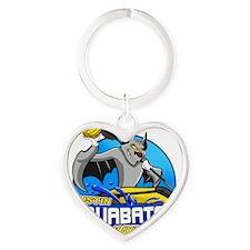aquaBATS Heart Keychain