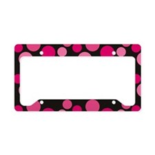 blackpinkdotstoiletry License Plate Holder
