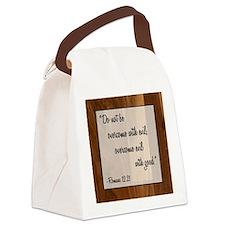 ROMANS 12:21 Canvas Lunch Bag