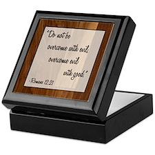 ROMANS 12:21 Keepsake Box