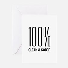 100 Percent Clean and Sober Greeting Cards (Packag