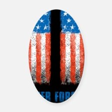 911_NEVERFORGET_23X35 Oval Car Magnet
