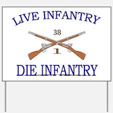 1st Bn 38th Infantry cap2 Yard Sign
