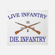 1st Bn 38th Infantry cap2 Throw Blanket