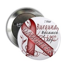 "I Wear Burgundy Because I Love My Dau 2.25"" Button"