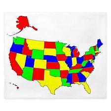 Map of America VII King Duvet