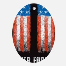 911_NEVERFORGET_banner Oval Ornament