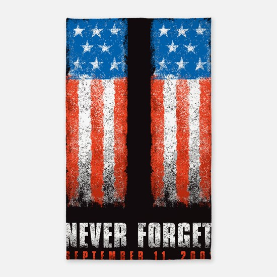 911_NEVERFORGET_banner 3'x5' Area Rug